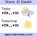 Weather forecast for Sharm El Sheikh