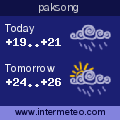 Weather forecast for paksong