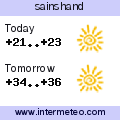 Weather forecast for sainshand