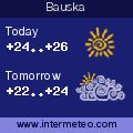 Weather forecast for Bauska