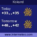Weather forecast for Kokand