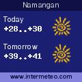 Weather forecast for Namangan