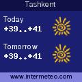 Weather forecast for Tashkent