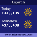 Weather forecast for Urgench